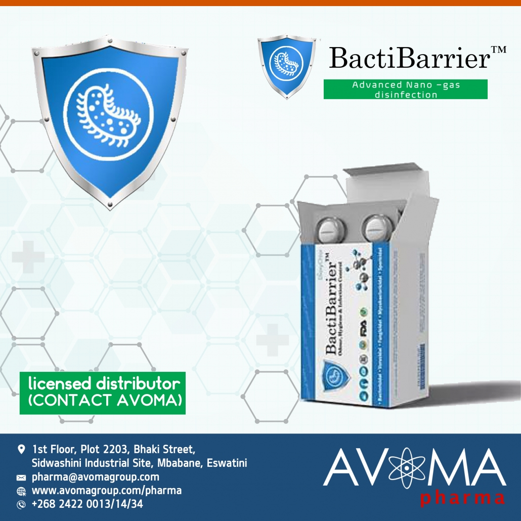 BactiBarrier Advanced Nano gas Disinfectant | AVOMA PHARMA