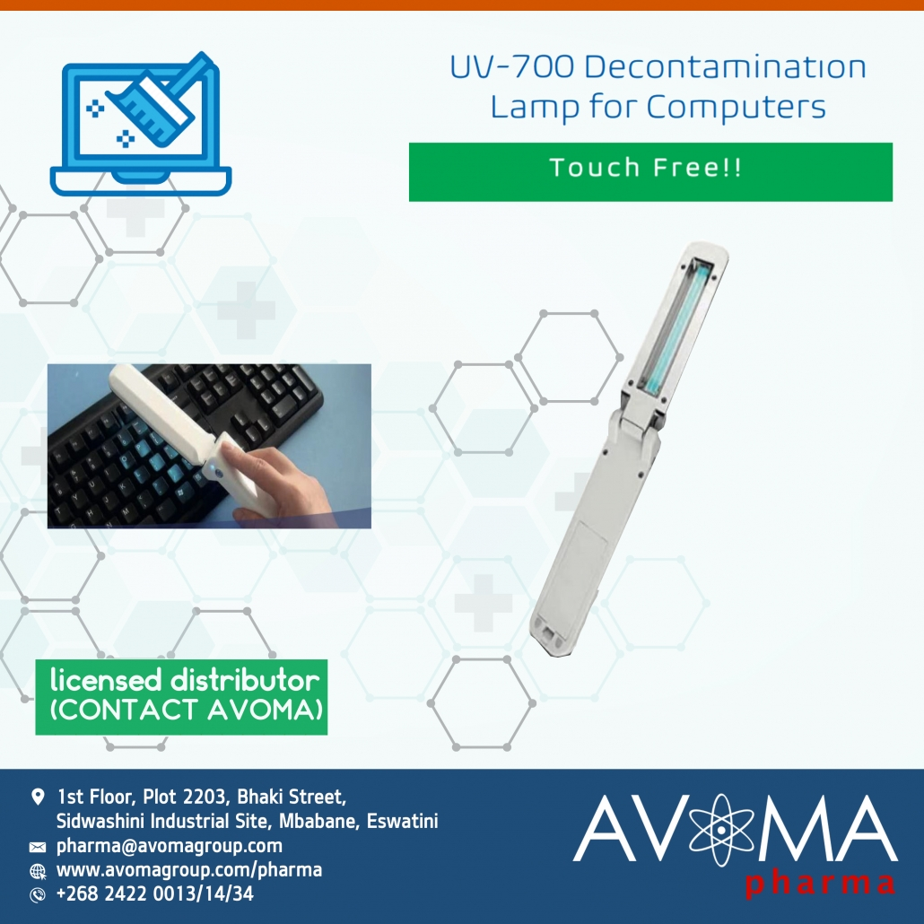 UV-700 Decontamination Lamp for computers and electronics | AVOMA PHARMA